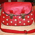 Sac rouge pour chaussures rouges !