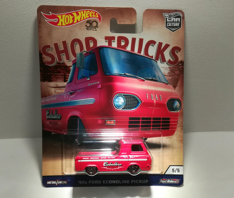 Ford Econoline Pickup de 1960 (Hotwheels) Shop Trucks 01