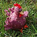 Edmonde la poule rose