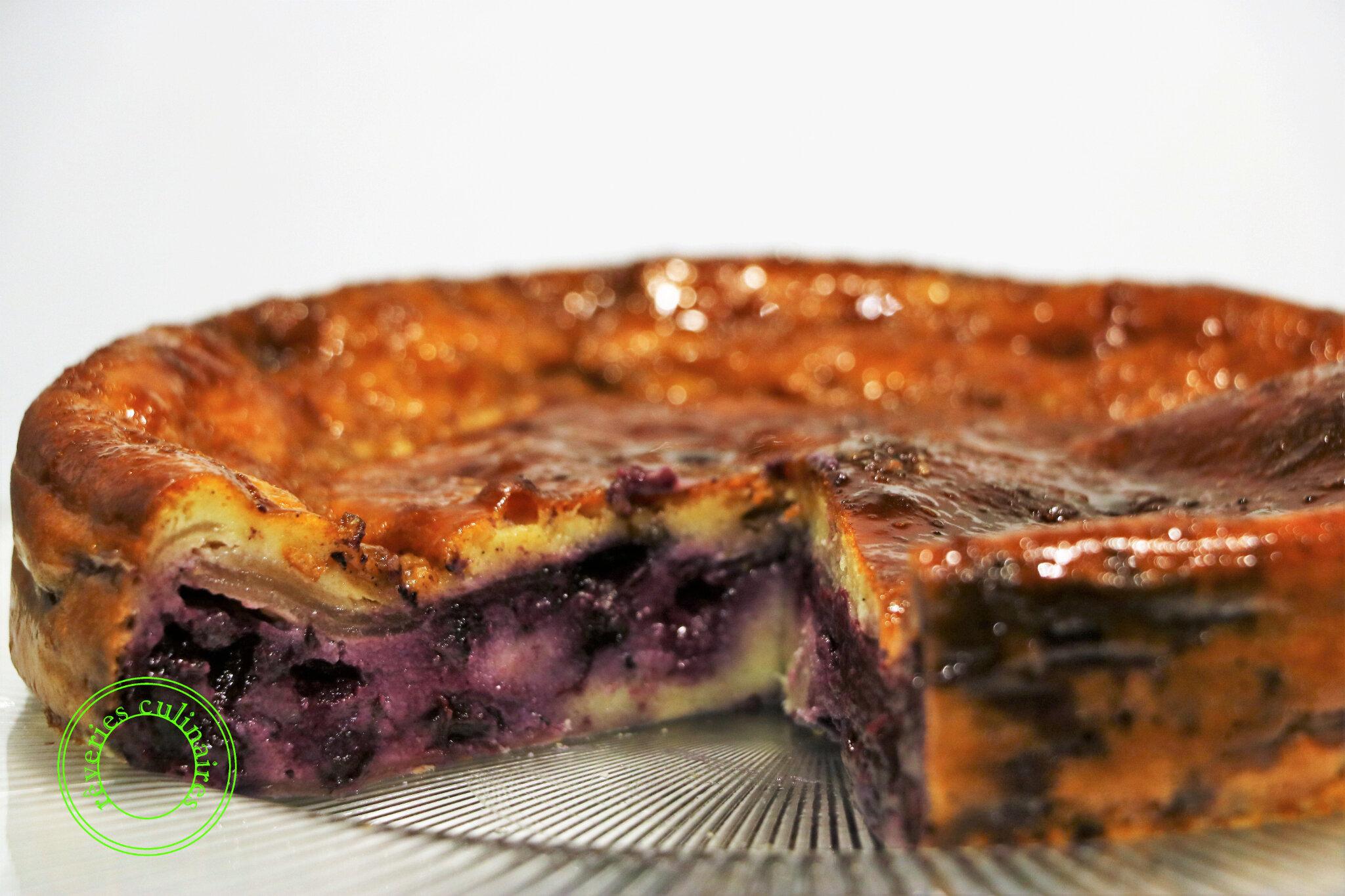 Gâteau pommes/myrtilles