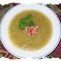 Soupe de légumes en vert et blanc sans féculents (m)
