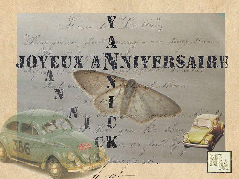 Carte Anniv Yannick