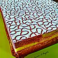 Entremet fruits rouges insert lemon curd