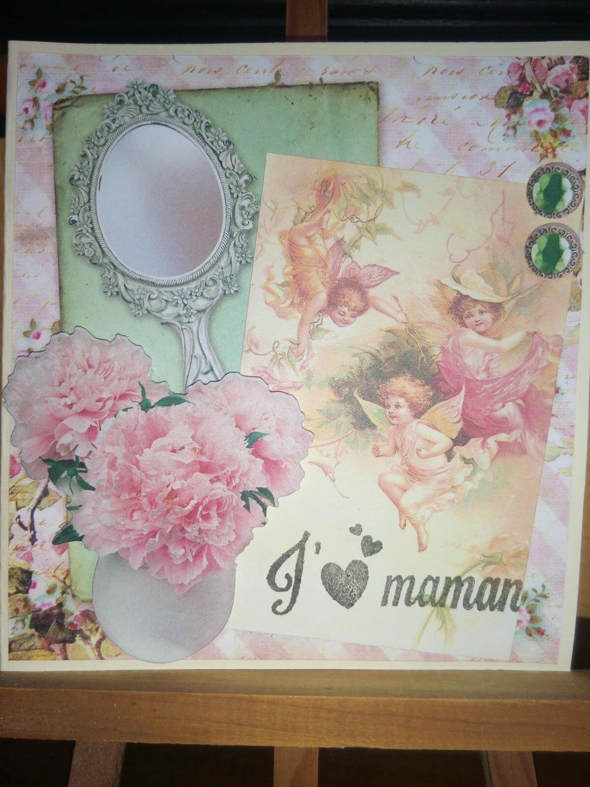 Carte vintage fête des mères