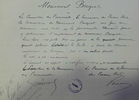 Becquet monument commission municipale