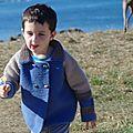 caban au crochet garçon enfant