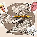 Caricature studio - danse de salon - tango argentin - cadeau retraite
