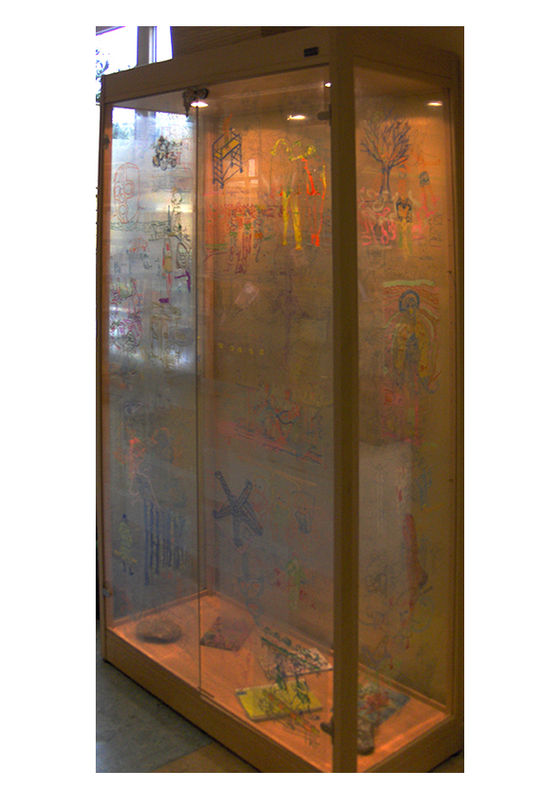 Vitrine Fred Michiels (installation Julia Solimando - Ph JS)
