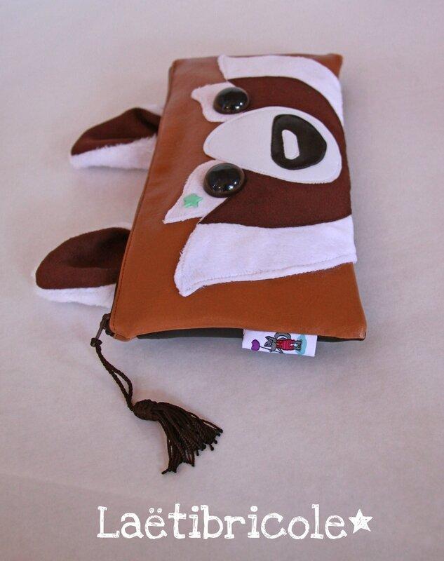 panda roux sac trousse
