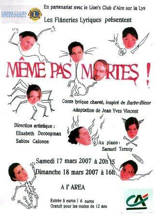 Affiche_du_spectacle_M_ME_PAS_MORTES_mars_2007_Aire_sur_la_Lys_Auteur_de_l_affiche_Elise_ANTOINE