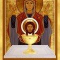 icone vierge eucharistie