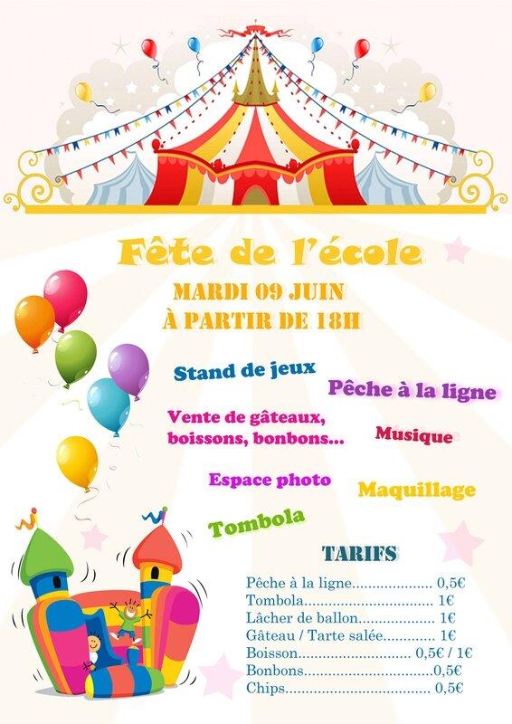 Affiche - fête de l'école - 09062015