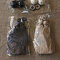 Fournitures la droguerie pompons, perles et anneaux africa à boules