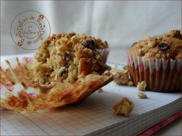 Muffins banane - muesli chocolat 3