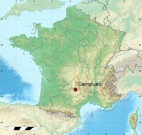 Campuac (Carte France)