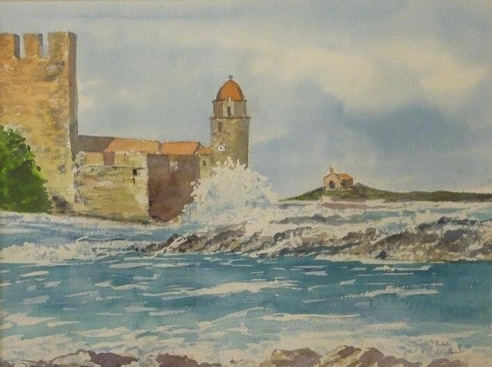 Aquarelle - Collioure