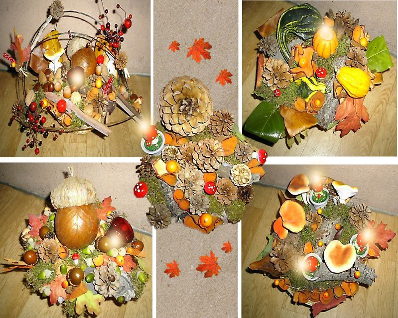 Centres de table art crea deco - Deco de table automne ...