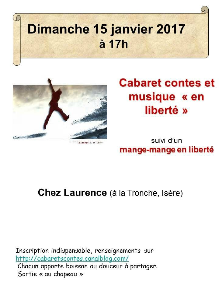 """cabaret contes N°8 : contes et chansons""""en liberté"""""""