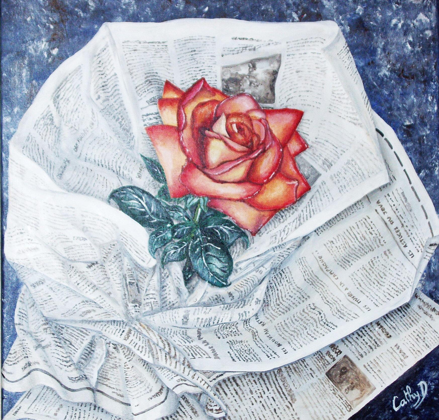 La Peinture Acrylique Sur Toile Les Fleurs Les Petites Peintures De Cathy D