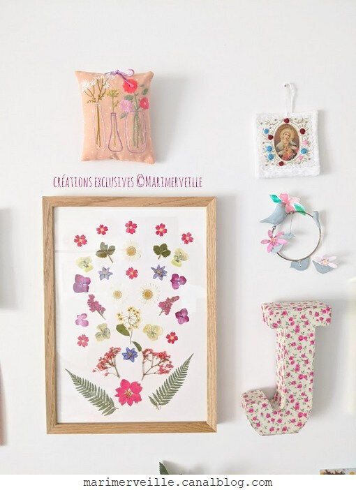 Créations ©marimerveille defi mood board floral8