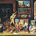 Frans ii francken (anvers, 1581-1642), cabinet d'un collectionneur, 1625