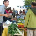 Christopher présente ses légumes