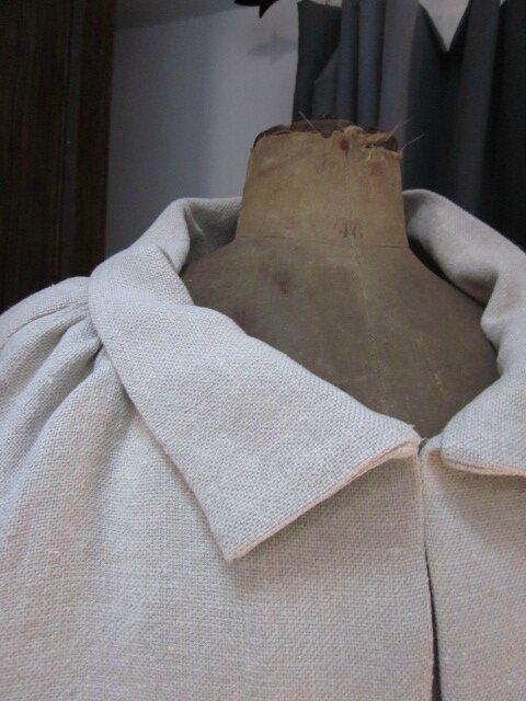 Veste Balnche en lin naturel (3)