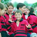 Les jeunes de l'école de rugby