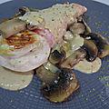 Poulet en portefeuille aux champignons