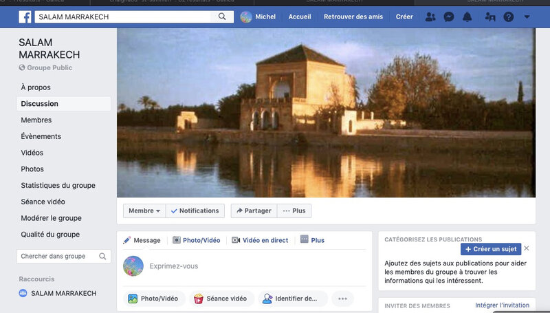 Salam Marrakech le groupe Facebook