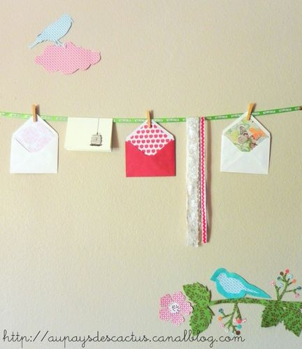 Enveloppes customisées papier Au pays des Cactus