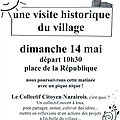 Invitation : visite historique du village