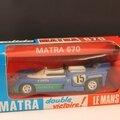 Matra simca 670. solido. #13. 1/43. victoire le mans 1972.