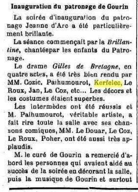 Presse Courrier Morbihannais 1909_2