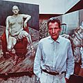 Bruce bernard, lucian freud with two portraits of leigh bowery, 1990