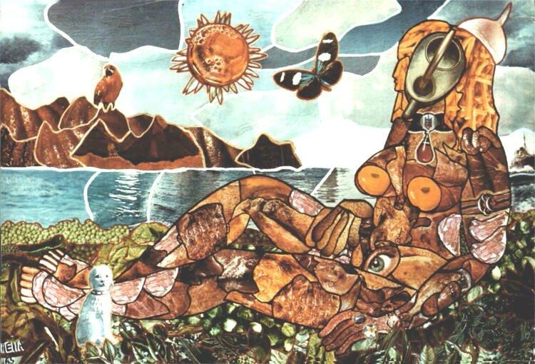 TELLA Femme victuaille 1965 50 x 73