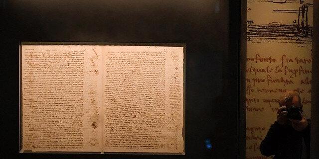 Florence : le Codex Leicester exposé pour les 500 ans de la mort de Vinci