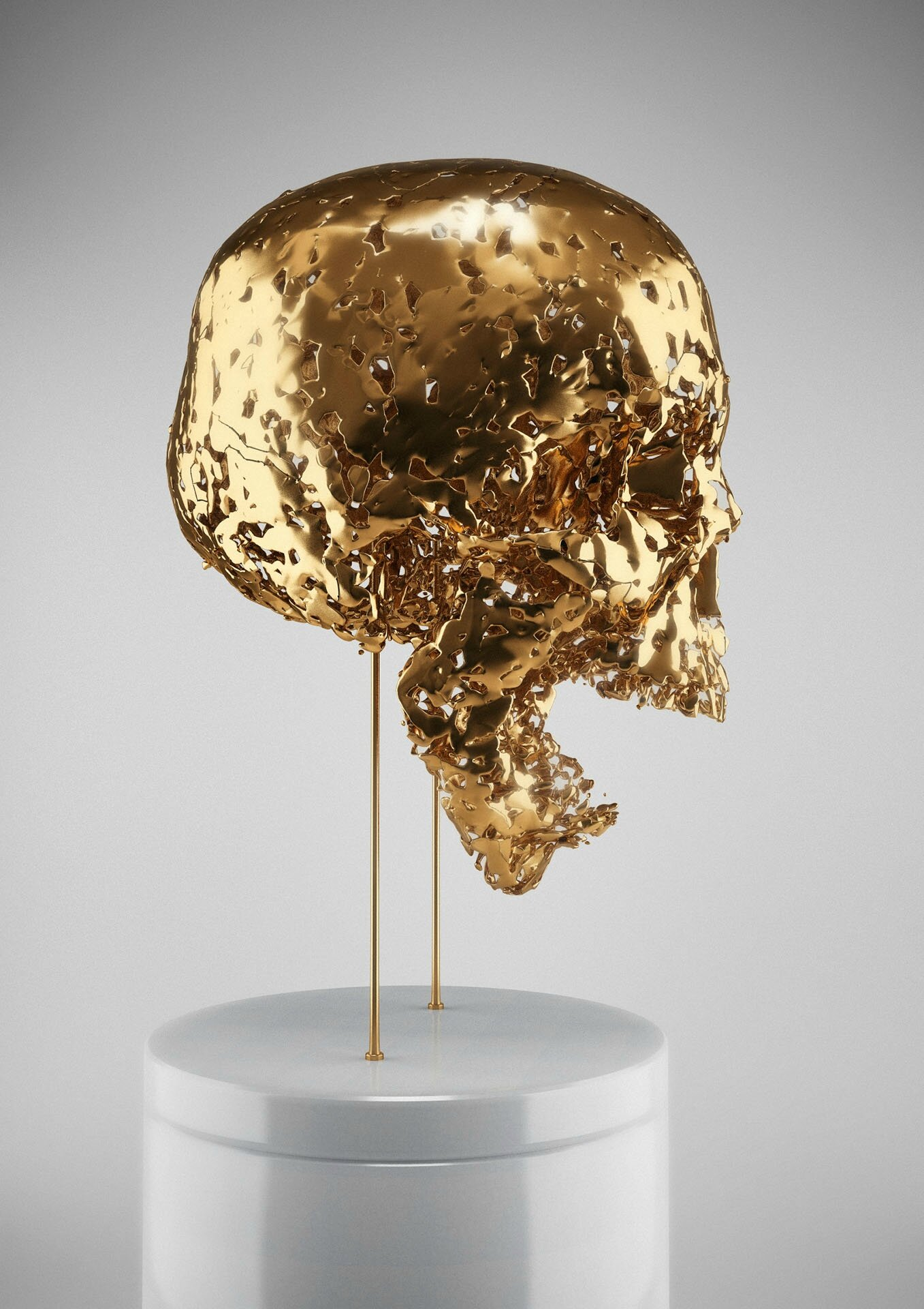 Hedi Xandt, My Die-Cast Soul, 2013, gold-plated. © 2014 Hedi Xandt