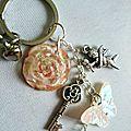 La rose d'angélique. porte clé n°8