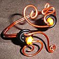 parure (20-1) orange-bouton