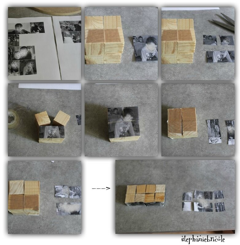 diy cube photo magique, diy cube photo multiface, magic cube diy