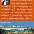 Henry dunant, souvenir de solférino