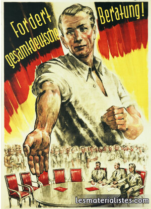 syndicats allemands affiche