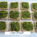 Toasts au pesto de pistaches