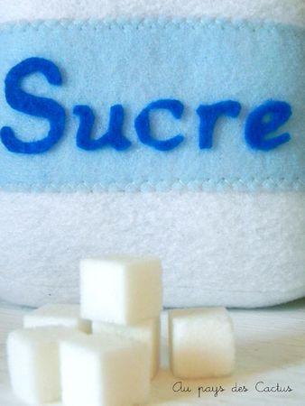 Dînette feutrine farine sucre lait riz chips Au pays des Cactus 3