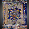 Rare tapis impérial, chine, dynastie qing, fin 19° siècle