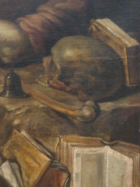 Claude Vignon, La Mort de saint Antoine, 1654, huile sur toile, 165 cm x 131 cm (détail)