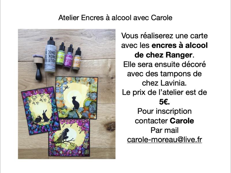 Atelier encres aĚ alcool salon de Chelles