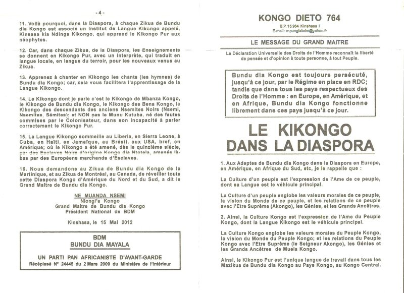 LE KIKONGO DANS LE DIASPORA 1