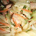 Salade composee torsades et crudites